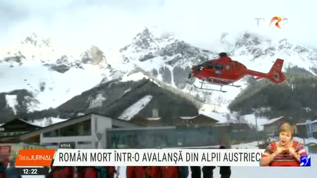 Roman mort in avalansa
